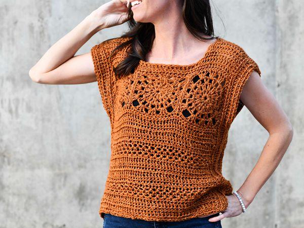 crochet Easy Hippy Top free pattern