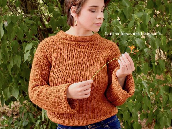 crochet Easy Ribbed Sweater free pattern