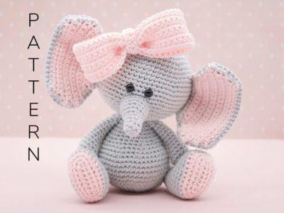crochet Ellie the elephant Amigurumi free pattern