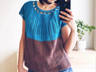 crochet Horizon Top free pattern