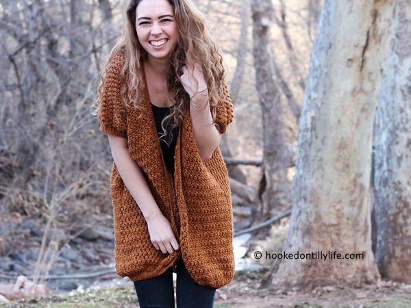 crochet Hudson Cardigan free pattern