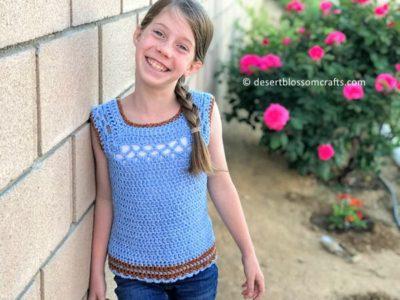 crochet Kid's Midnight Top free pattern