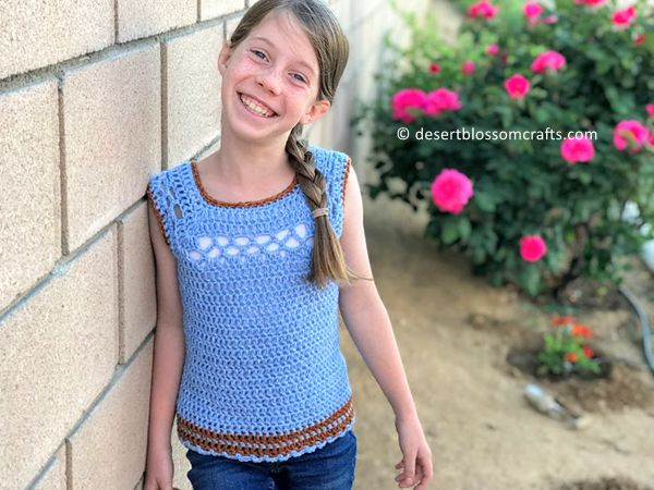 crochet Kid's Midnight Top free pattern