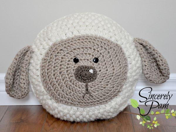 crochet Little Lamb Pillow free pattern