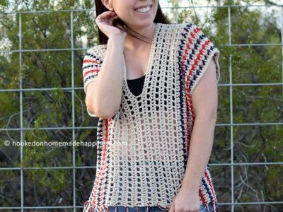 crochet Picnic Poncho free pattern