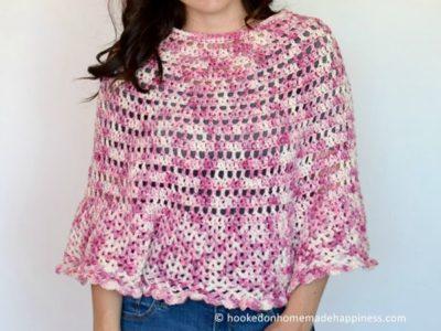 crochet Springtime Poncho free pattern