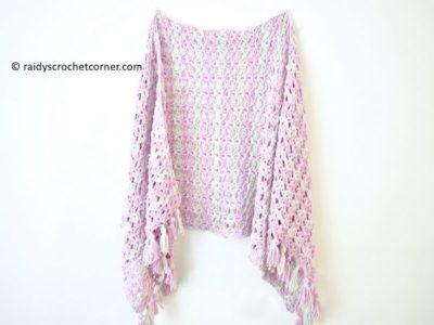 crochet Summer Iris Shawl free pattern