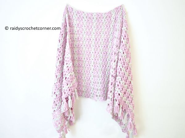 crochet Summer Iris Shawl free pattern