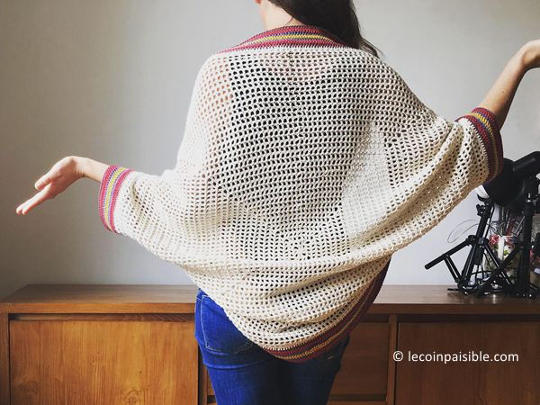 crochet Summer cotton cocoon cardigan free pattern