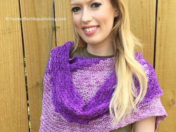 crochet Telegraph Shawl free pattern