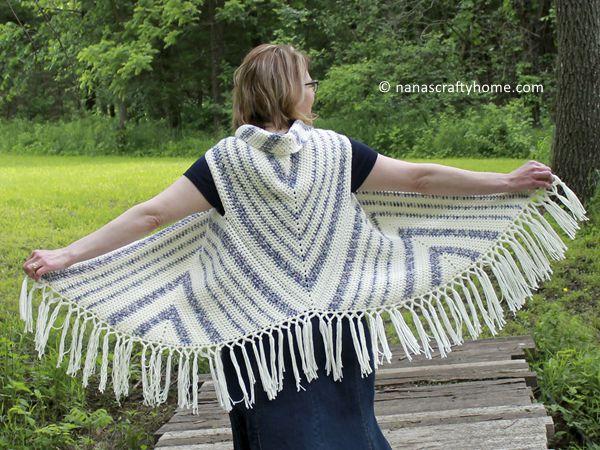 crochet Triangle Trio Boho Vest free pattern