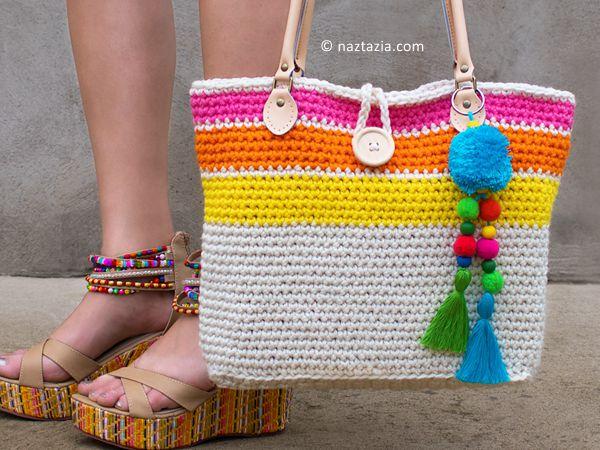 crochet sweet simple tote bag free pattern