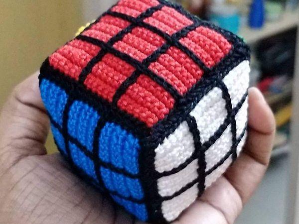 Amigurumi Rubik's Cube free pattern