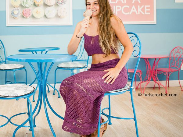 Crochet Skirt And Crop Top free pattern