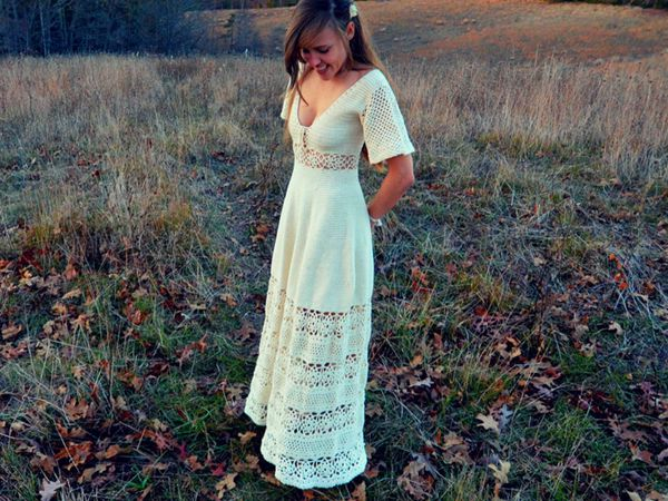 Crochet maxi dress pattern