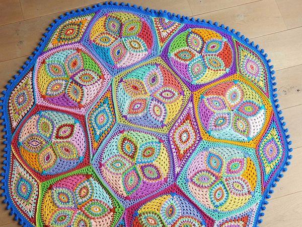 Crochet pattern KALEIDOSCOPE blanket