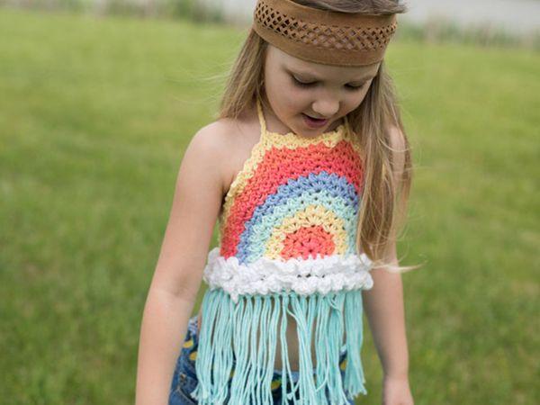 Girls Halter Top Crochet Pattern