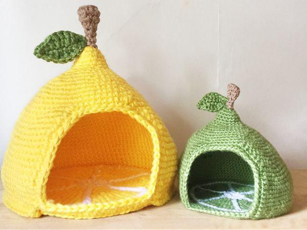 Sturdy & Comfy Cat Bed Free Crochet Pattern | 450x600