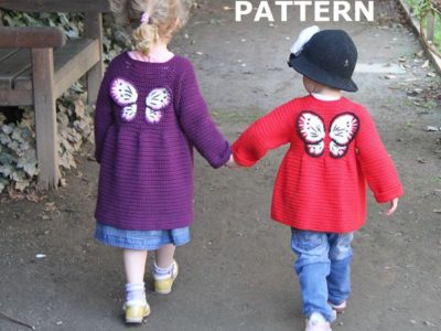 Toddler girl cardigan 2-3 year with Butterfly wings jacket