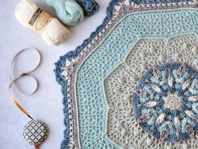 crochet April Showers Mandala free pattern