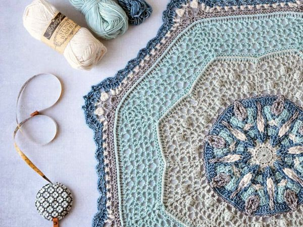 crochet April Showers Mandala free pattern