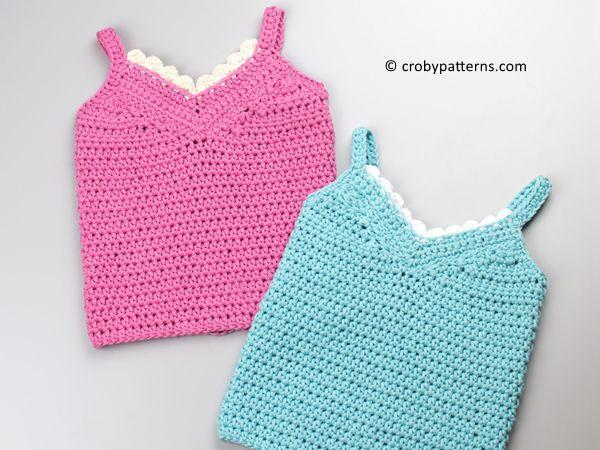 crochet Baby Top Little Lace Tank free pattern