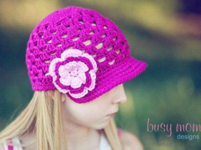 crochet Breezy Brimmer Open-Weave Beanie patterns