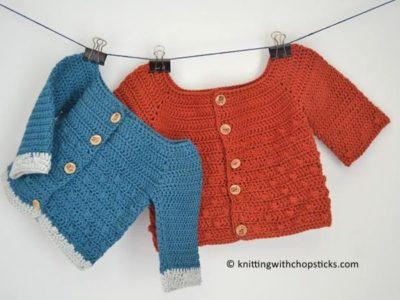 crochet Bubbly Baby Cardigan free pattern
