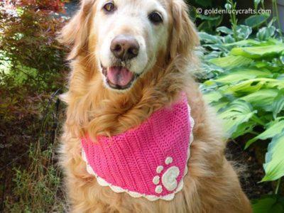 crochet Dog Bandana free pattern