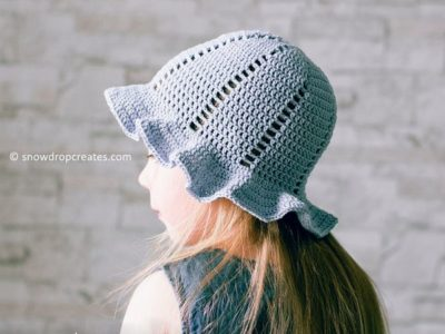 crochet Lilac Sunhat free pattern