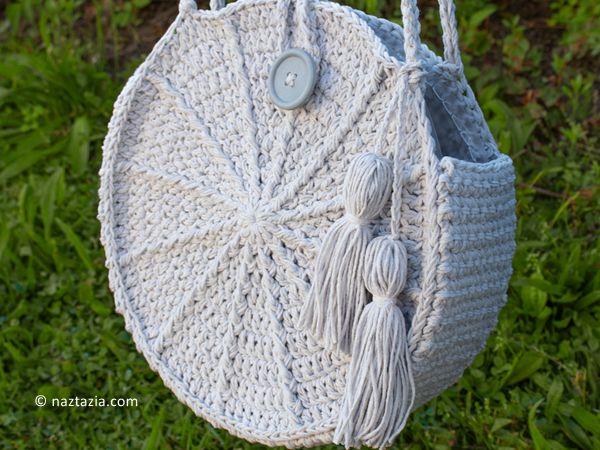 crochet Lunaria Round Bag free pattern