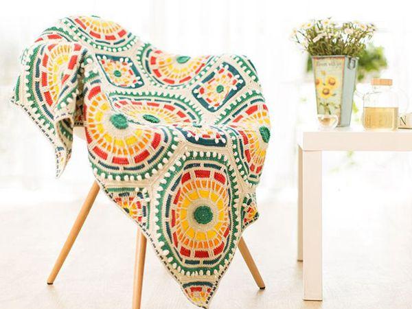 crochet Moroccan Mosaic Blanket pattern