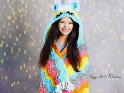 crochet Rainbow Unicorn Blanket pattern