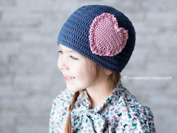 crochet Sandy Sweetheart Hat free pattern