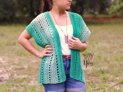 crochet Seafoam Cardigan free pattern