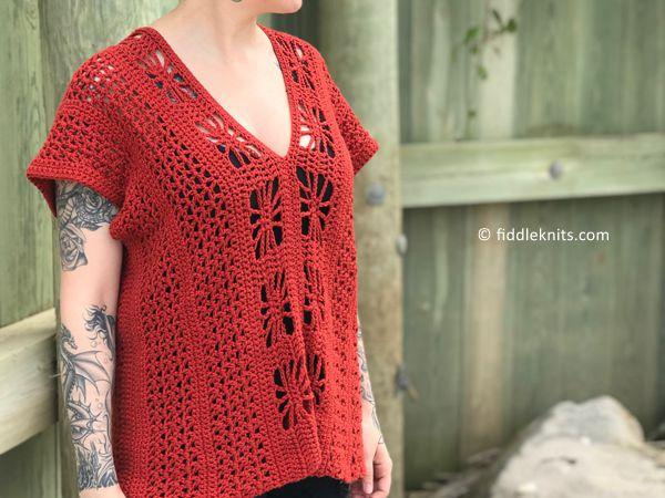 crochet Somerset Beach Top free pattern
