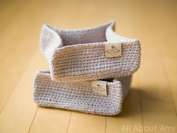 crochet Square Carry-All Tray free pattern