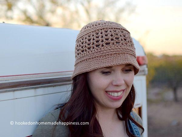 crochet Sun Daze Bucket Hat free pattern