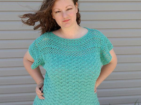 crochet The Aerwyna Blouse free pattern