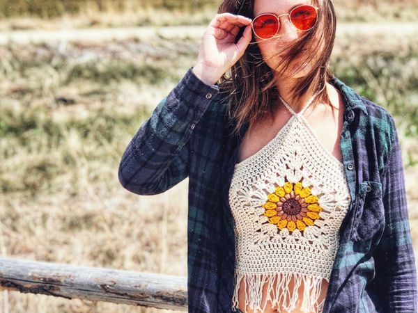 crochet The Helia Crop Top pattern