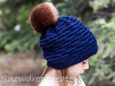 crochet Waves Beanie pattern free