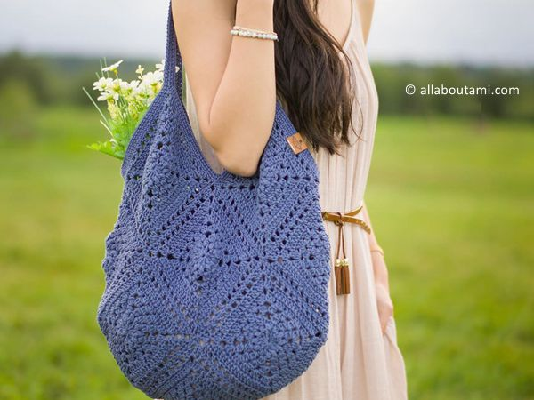 crochet Wildrose Market Bag free pattern