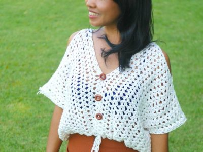 crochet boho chic crop top free pattern