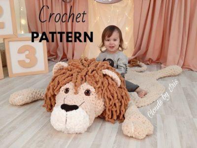 crochet lion Leonardo mat rugs free pattern