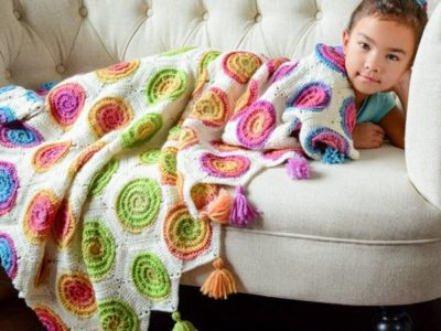 crochet pattern colorful boho throw blanket