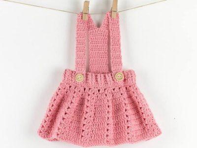 Crochet Baby Dress Peony Twirl pattern