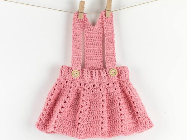 Crochet Baby Dress Peony Twirl pattern