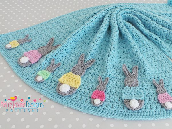 Crochet Bunny Blanket Pattern