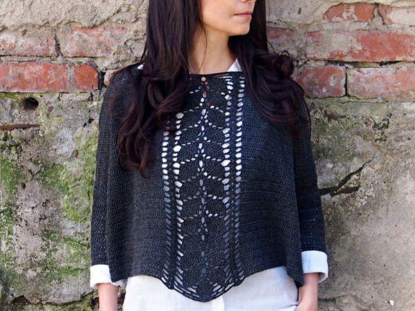 Crochet Pattern Leaves Cascade sweater