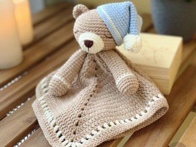 Crochet Teddy Bear Lovey Pattern
